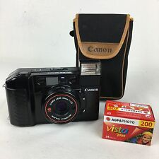 Canon Sure Shot, AF 35mm film camera, F2.8 38mm lens with case. Made in Japan