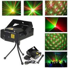 Mini LED Rouge Vert Laser Projecteur Jeu de Lumiere Stage Pr DJ Disco Eclairage