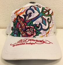 Ed Hardy Women's Trucker Hat Cap True Love White Roses NEW