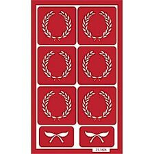 Armour Reusable Over n Over Glass Etching Stencil Set - Crests (Wreaths)