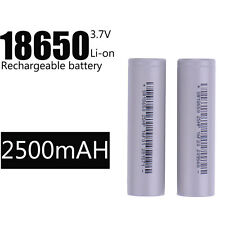 2PC 2500mAh BRC 3.7v 18650 Rechargeable Li-ion Battery Long life High Quality