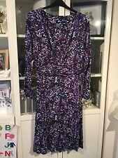"""Papaya Plus Sz 18 Purple Mix 45""""Long Soft Jersey Stretch Dress"""