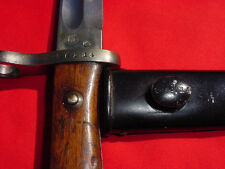 CHILEAN MODEL 1895 MAUSER BAYONET & SCABBARD SERIAL NUMBERED THE SAME