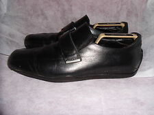 RUSSELL & BROMLEY MEN'S BLACK LEATHER VELCRO SHOE/TRAINER. SIZE UK 7 EU 41 VGC