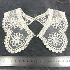 Vintage Style Guipure Lace collar, Cream Lace Sewn On Dressmaking, 1 pair. LC48