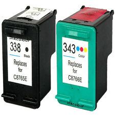 Non-OEM Replaces For HP 338 343 Psc 1510s 1510v 1510xi Ink Cartridges