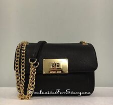 NWT Michael Kors Sloan Black Small Shoulder Flap Crossbody Leather Bag $248