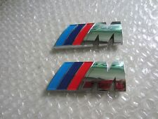 2 x ///M Sport Small Emblem Sticker Side Wing M Power Badge Metal Chrome BMW