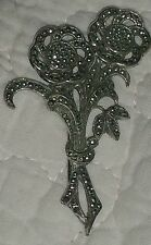 Vintage Sterling Silver and Marcasite Pin