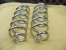 CHROME LARGE LYCETTE SEAT / SADDLE SPRINGS  A PAIR SPRINGS NEW