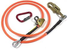 "Climb Right 1/2"" X 8' Steel Core Lanyard Kit Flipline 75221 Swivel Snap Arborist"