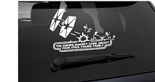STAR WARS THE EMPIRE DOESNT CARE FUNNY  CAR STICKER-BUMPER BODYWORK WINDOWS
