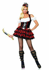 SEXY PIRATESSA CORSARA COSTUME ROSSONERO SHIPWRECK PIRATE FANCY DRESS LEG AVENUE