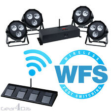KAM LED PAR KIT WFS 108W LED 4 CAN LIGHTING KIT / CONTROLLER WIRELESS FOOTSWITCH
