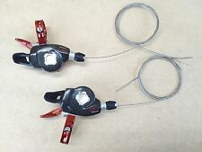 Sram X0 Redwin Front & Rear 9 & 3 Speed Trigger Shifter Set - Red USED 081