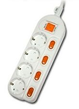 Multiple outlet power strip 220 V 1.5m 4.9' surge protector 4 outlet 4 switch