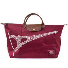 LONGCHAMP Le Pliage France Tour Eiffel Paris Burgundy X Large Bag Handbag NEW
