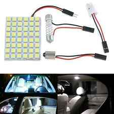 Car Interior White 48 SMD 5050 LED Light Lamp Panel T10 Festoon Dome BA9S 12V HS
