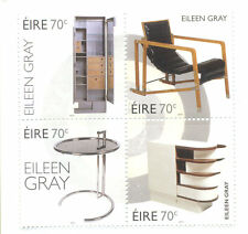 Ireland-Eileen Gray-Furniture Design-Art set mnh 2015