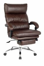Deluxe Reclining Chair, Thick Padded Executive Chair,Napping Chair with Footrest