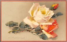 BG33595 catharina klein flower rose  nice artist signed