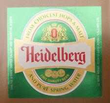 VINTAGE CANADIAN BEER LABEL - CARLING O'KEEFE BREWERY, HEIDELBERG BEER #2