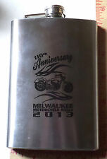Harley 110th flask Milwaukee motorcycle rally collectible HD biker souvenir