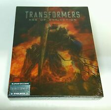 TRANSFORMERS 4: AGE OF EXTINCTION 3D Blu-ray STEELBOOK ART A [BLUFANS] NEW / OOP