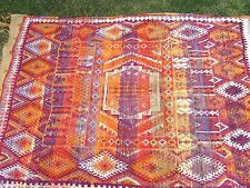 Antique Turkish Handwoven Tribal Rug Carpet Tapestry Wall Art 5'x7'4 Vintage