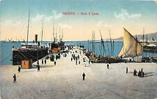 B3756 Italy Trieste Molo S Carlo front/back scan