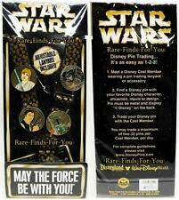 Disney Parks Star Wars Lanyard 4-Pin Starter Set Vader Luke Han Boba Fett (NEW)