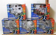 5 Pc 2004 American Chopper 1:18 Lot Mikey's Fire Comanche Jet Cody Project NIB