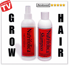 NUTRIFOLICA HAIR GROWTH TREATMENT SHAMPOO STOP LOSS  & no minoxidil side effects