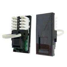 Triax Modular Faceplate RJ11 Modem Insert Module Black