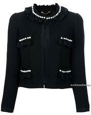 Moschino Pearl Embellished Jacket UK12/ IT44 NAVY RRP1150GBP