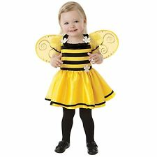 Cute Girls Bumble Bee Baby Halloween Fancy Dress Costume Book Week + Wings