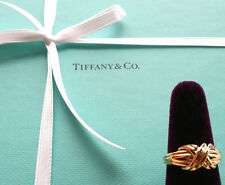 "Authentic TIFFANY & Co. 18K Yellow Gold "" X "" Love Knot Ring US6.5, EU52"