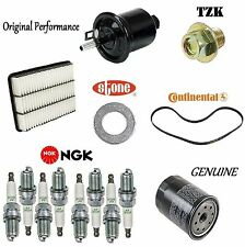 Tune Up Kit Air Oil Fuel Filters Spark Plugs for Toyota Sequoia 2001-2007
