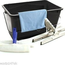 Professional Window Cleaning Equipment Set Washing Cloth Squeegee Bucket Sponge