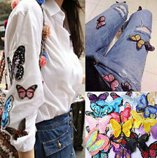 10 Embroidery Butterfly Sew On Patch Badge Embroidered Fabric Applique DIY new