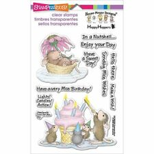 Stampendous Clear Stamps - House Mouse Mice Wishes - Birthday