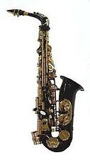 BRAND NEW BLACK ALTO SAXOPHONE SAX W/CASE-APPROVED+ WARRANTY.