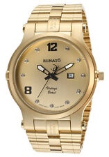 New Mens Renato Vintage Beast 50VY-CH Limited Edition Swiss Goldtone Dial Watch