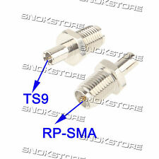 ADATTATORE adapter CONNETTORE RP-SMA maschio to TS9 antenne WIFI ROUTER key