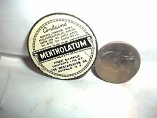 vintage round Free Sample Mentholatum tin 1/10 oz., Mentholatum Co., Buffalo, NY