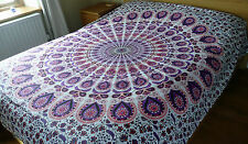 Indian Double Bedspread Mandala Throw Bed Cover Printed Wall Hanging Bedding