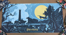 The Lord Of The Rings Screen Print Poster by Florey Mondo artist