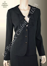 TAHARI Women Skirt Suit SIZE 8 BLACK Two-Piece CASCADE Knee Dressy $280 LBCUSA