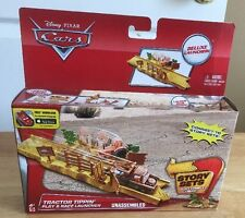 Disney Pixar Cars Tractor Tippin' Play & Race Launcher New Story Sets Toy Mattel