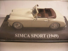 voiture 1/43 eme IXO ALTAYA SIMCA SPORT 1949